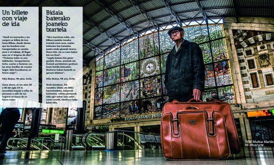 Metro Bilbao acoge una muestra fotográfica que destaca el papel de las personas mayores en la transmisión de valores