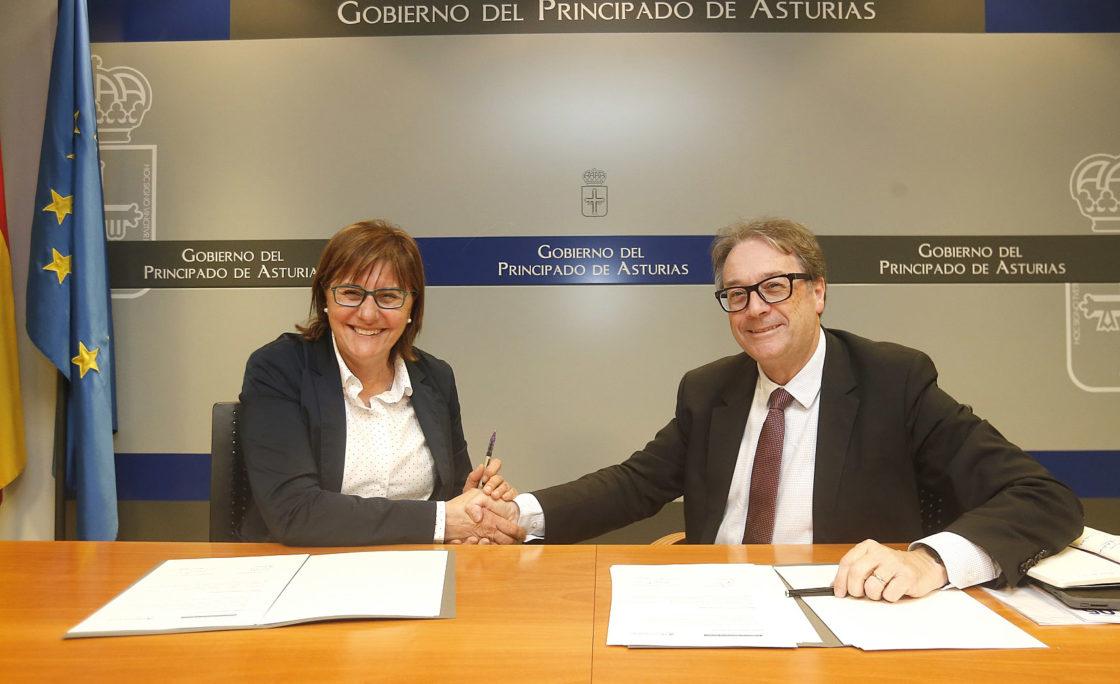 """Asturias y la Obra Social """"la Caixa"""" renuevan el convenio para promover el envejecimiento activonte del alzhéimer entre menores de 65 años"""