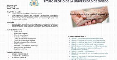 Título Experto en Gerontología de la Universidad de Oviedo