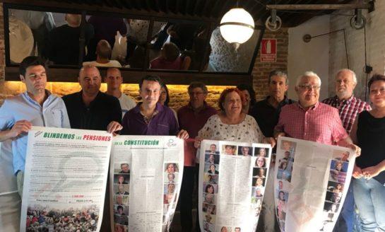 Presentación del manifiesto 'Blindemos las pensiones en la Constitución'