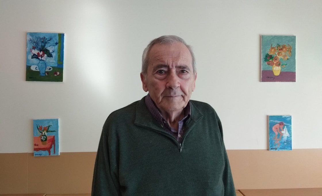 La residencia Amavir Colmenar organiza una exposición de cuadros de uno de sus usuarios