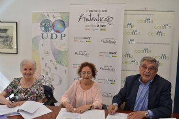 Ceoma, UDP y ONCE firman un acuerdo para crear una Plataforma Estatal de Organizaciones de Mayores y Pensionistas