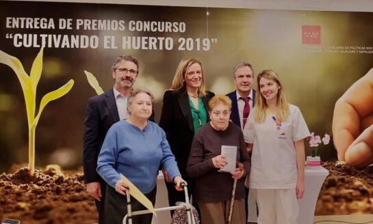 Amavir La Marina recibe el primer premio del  concurso 'Cultivando el huerto 2019' de la Comunidad  de Madrid