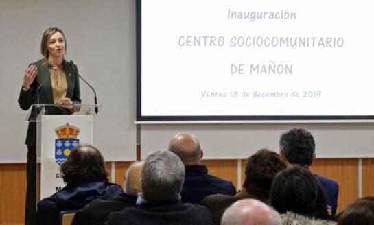Fabiola García inaugura el centro sociocomunitario de Mañón