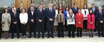 Pedro Sánchez presenta el primer gobierno de coalición
