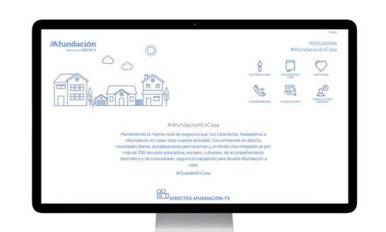 'Afundación en casa', un portal de apoyo  a los mayores para animar a quedarse en casa