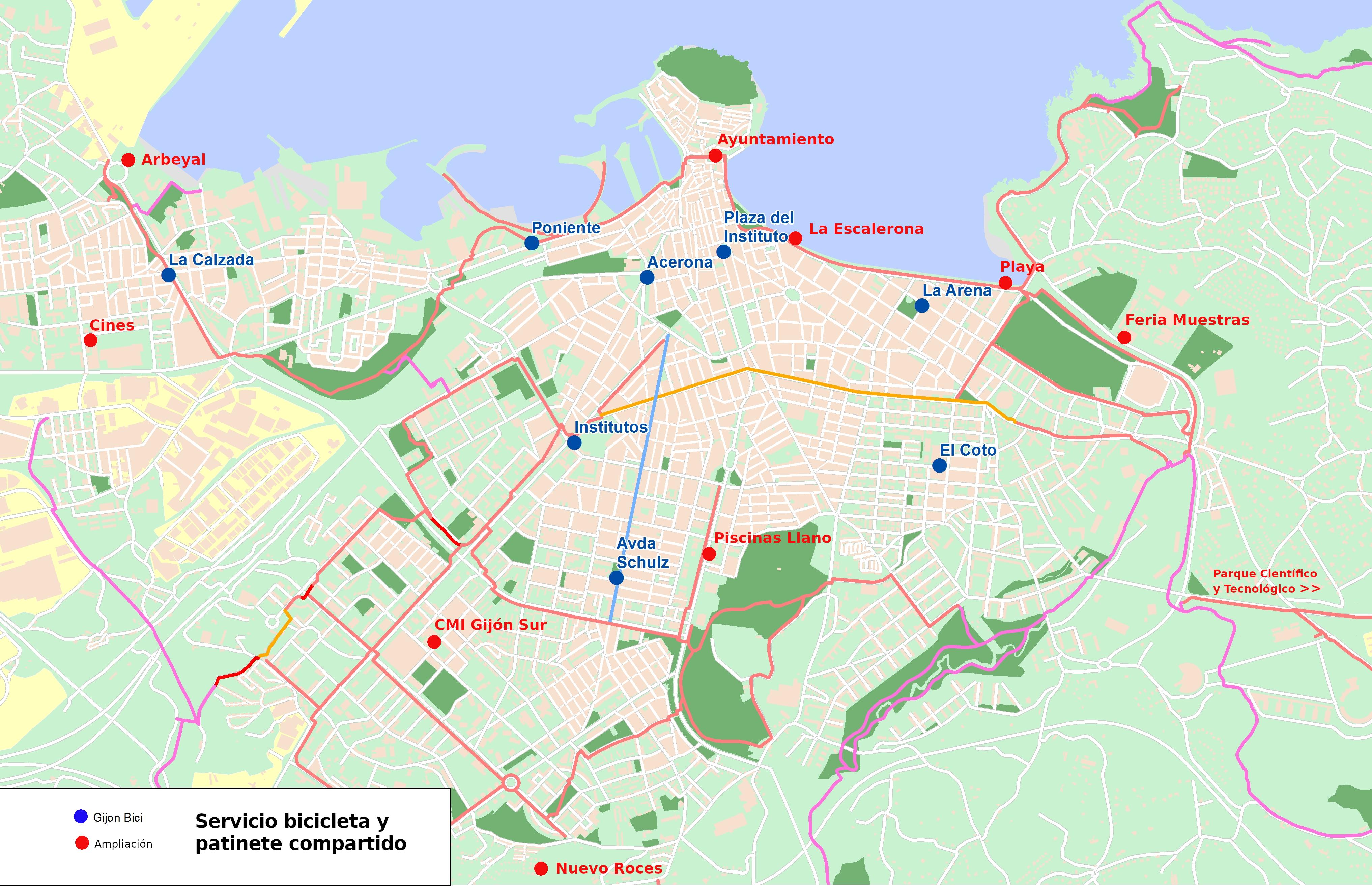 Mapa Carril Bici Gijon.Gijon Priorizara La Movilidad A Pie Y En Bicicleta Durante La Desescalada Nosotros Los Mayores