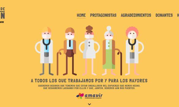 Amavir pone en valor el compromiso del sector frente a la pandemia en una campaña
