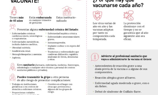 Los farmacéuticos lanza una campaña para promover la vacunación antigripal en los grupos de riesgo