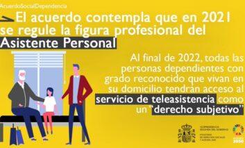 La Secretaria de Estado de Derechos Sociales y organizaciones empresariales y sindicales alcanzan un acuerdo en materia de dependencia