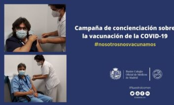 El Colegio de Médicos de Madrid crea conciencia sobre la importancia la vacunación frente a la COVID-19
