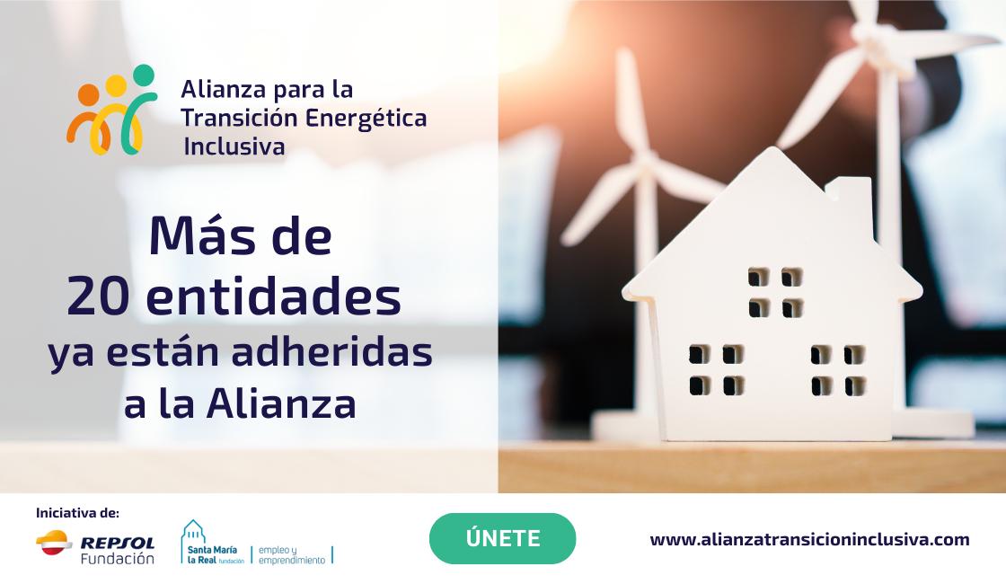 Más de 20 entidades se adhieren a la Alianza para la Transición Energética Inclusiva