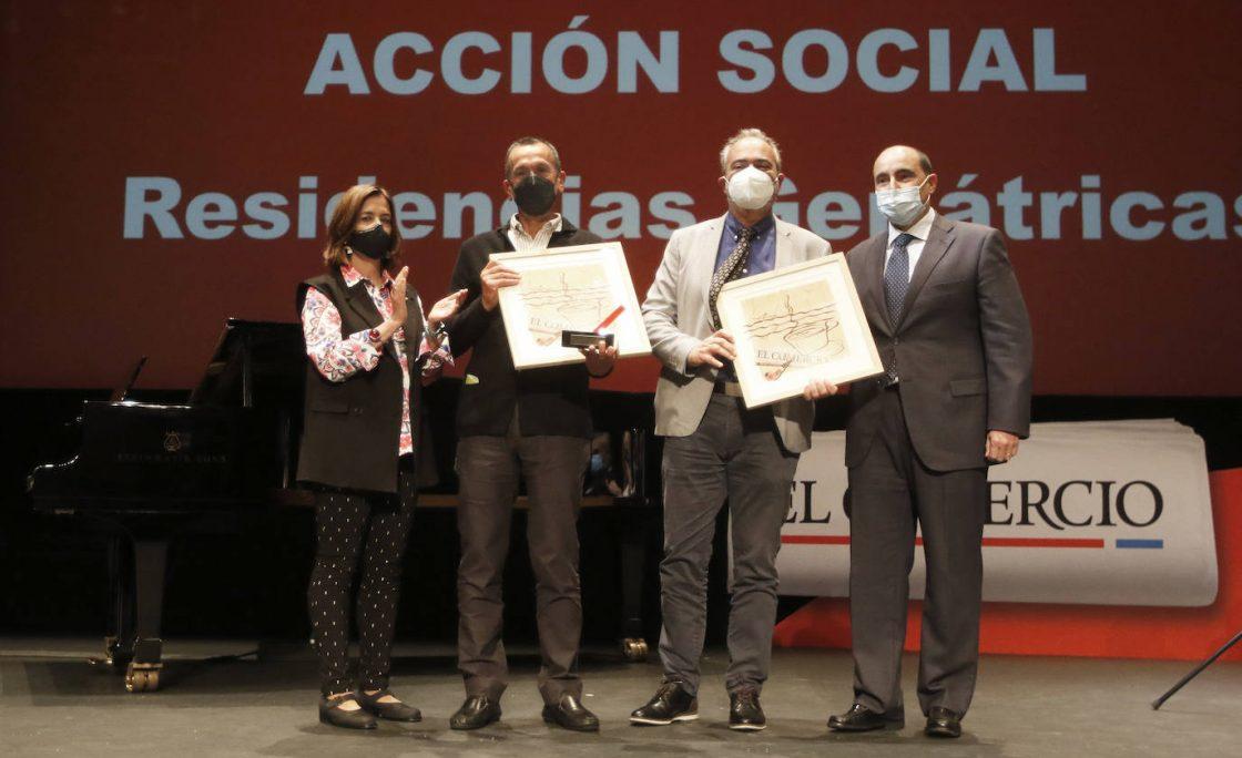 Premio de Acción Social a los geriátricos asturianos